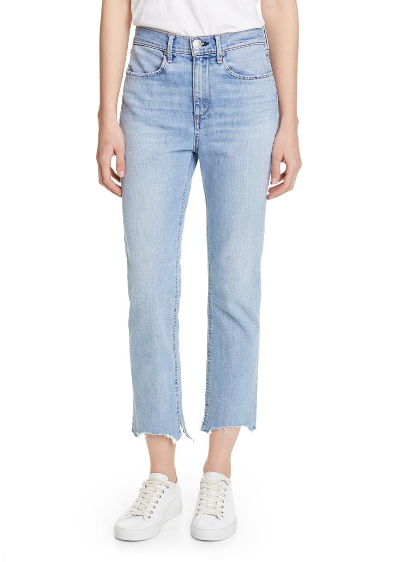 rag & bone Nina High Waist Crop Cigarette Jeans (Lapis)