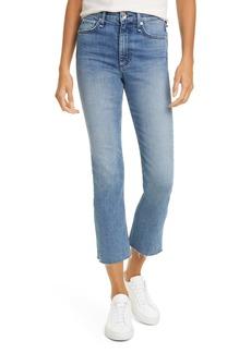rag & bone Nina High Waist Crop Flare Jeans (Freya)