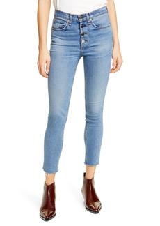 rag & bone Nina High Waist Crop Skinny Jeans (Farrah)