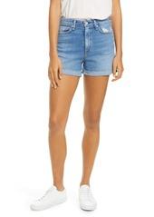 rag & bone Nina Distressed High Waist Denim Cutoff Shorts (Palmer)
