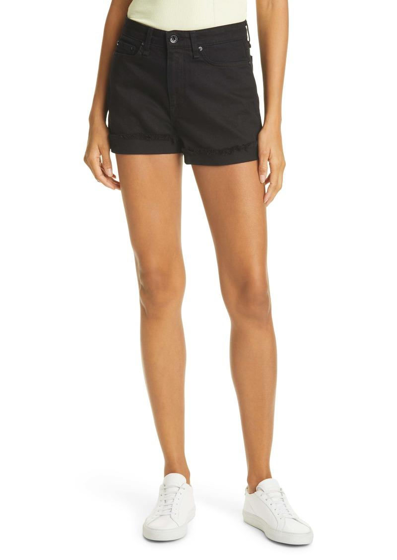 rag & bone Nina High Waist Denim Shorts