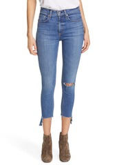 rag & bone Nina High Waist Raw Step Hem Crop Skinny Jeans (Ambra Hampton)
