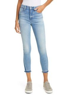 rag & bone Nina High Waist Release Hem Ankle Skinny Jeans (Vintage)