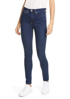 rag & bone Nina High Waist Skinny Jeans (Marine Blue)