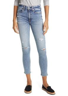 rag & bone Nina Ripped High Waist Ankle Skinny Jeans (Horizon)