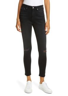 rag & bone Nina Ripped High Waist Ankle Skinny Jeans (Roswell)