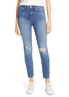 rag & bone Nina Ripped High Waist Ankle Skinny Jeans (Vernon Hole)