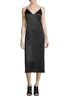 Rag & Bone Nina Silk Satin Midi Dress