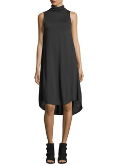 Rag & Bone Nova Turtleneck Sleeveless High-Low Shift Dress
