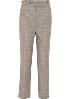 Rag & Bone Oman Checked Wool And Cotton-blend Straight-leg Pants