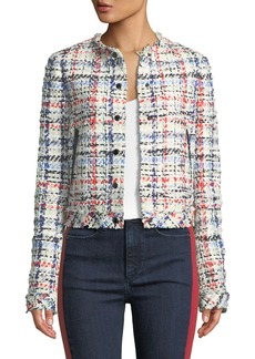 Rag & Bone Otis Snap-Front Linton Tweed Jacket