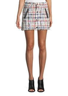 Rag & Bone Otis Snap-Front Tweed Mini Skirt