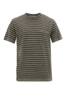 Rag & Bone Owen jacquard-striped linen T-shirt
