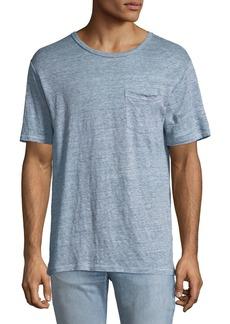 Rag & Bone Men's Owen Over-Dyed Linen T-Shirt