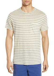 rag & bone Owen Stripe Linen Pocket T-Shirt
