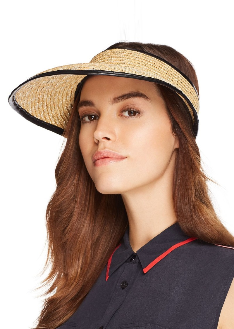 2f879b7777c Rag   Bone rag   bone Packable Leather-Trim Straw Visor