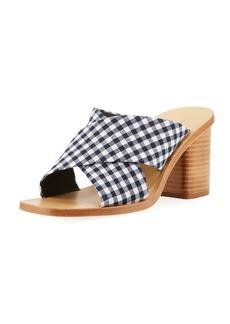 Rag & Bone Paige Gingham Slide Sandal
