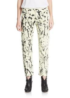 Rag & Bone Paint-Splattered Cropped Skinny Jeans