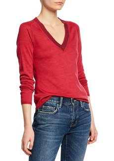 Rag & Bone Pamela Merino Wool V-Neck Sweater