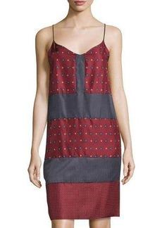 Rag & Bone Paneled Silk Shift Dress