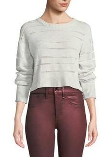 Rag & Bone Penn Cropped Sweater with Sheer Stripe Detail