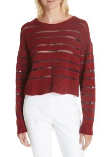 rag & bone Penn Sheer Stripe Crop Sweater