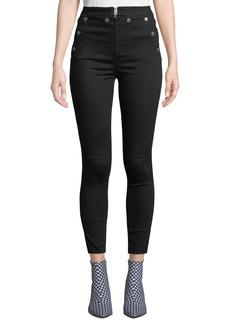 Rag & Bone Penton High-Rise Skinny Jeans w/ Snaps & Lacing