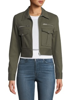 Rag & Bone Pike Cropped Zip-Front Utility Jacket