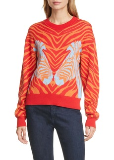 rag & bone Plaza Zebra Jacquard Sweater