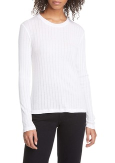rag & bone Pointelle Stripe Ribbed Top