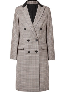 Rag & Bone Preston Double-breasted Checked Wool And Cotton-blend Coat