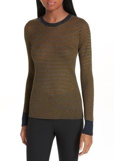 rag & bone Raina Metallic Stripe Sweater