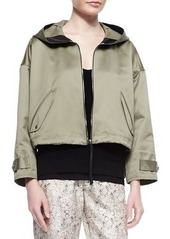 Rag & Bone Randi Cropped Shimmery Cotton Jacket