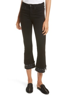 rag & bone Raw Edge Crop Flare Jeans (Coal Double Heather)