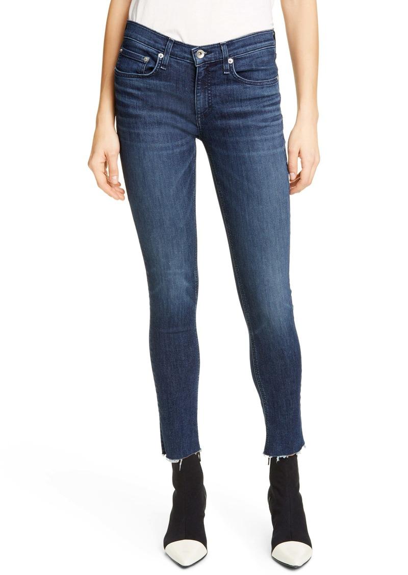 rag & bone Raw Hem Ankle Skinny Jeans (Wilton)
