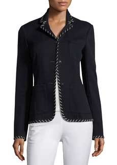 Rag & Bone Redgrave Whipstitch Three-Button Blazer