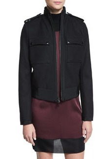 Rag & Bone Regale Zip-Front Wool-Blend Jacket