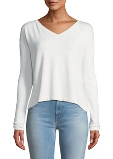 Rag & Bone Reily Cropped Long-Sleeve Top