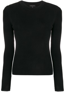 Rag & Bone rib knit fitted sweater - Black