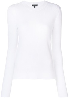 Rag & Bone rib knit fitted sweater - White