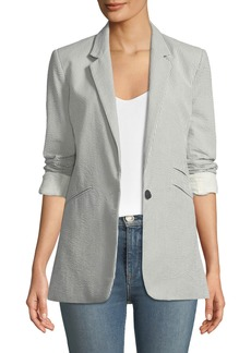 Rag & Bone Ridley Striped One-Button Blazer