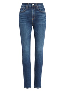 rag & bone Ripped High Waist Skinny Jeans (Elton)