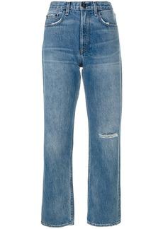 Rag & Bone ripped knee boyfriend jeans - Blue