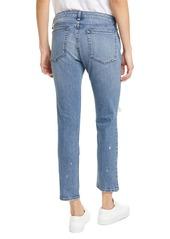 rag & bone Ripped Straight Leg Ankle Jeans (Star City)