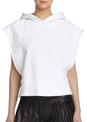 Rag & Bone Roni Short-Sleeve Cotton Hoodie