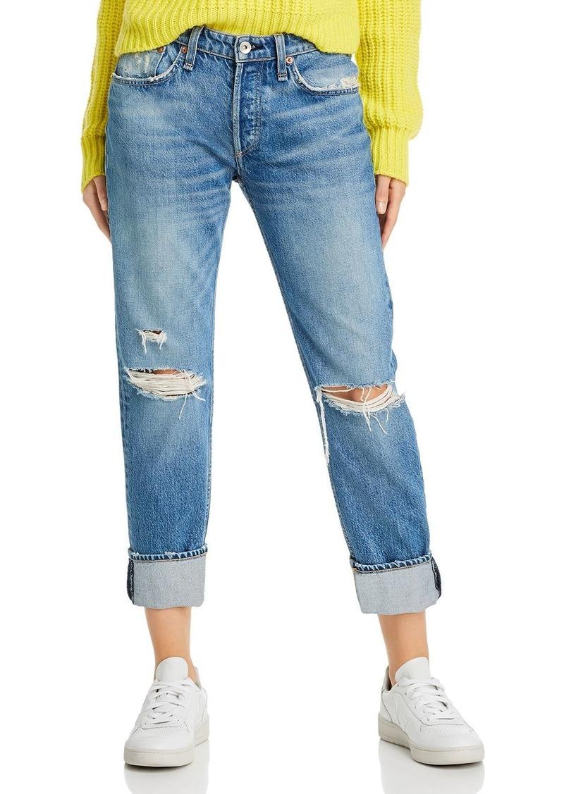 rag & bone Rosa Distressed Boyfriend Jeans in Bristol