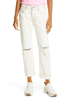 rag & bone Rosa Ripped Boyfriend Jeans (White Ave)