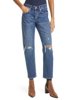 rag & bone Rosa Ripped Mid Rise Boyfriend Jeans (Emory)