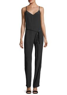 Rag & Bone Rosa Sleeveless V-Neck Straight-Leg Silk Jumpsuit