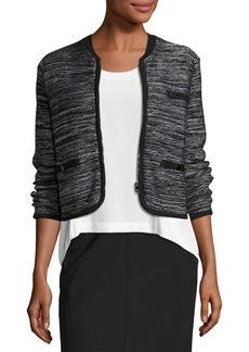 Rag & Bone Rosalie Cropped Zip-Front Sweater Jacket